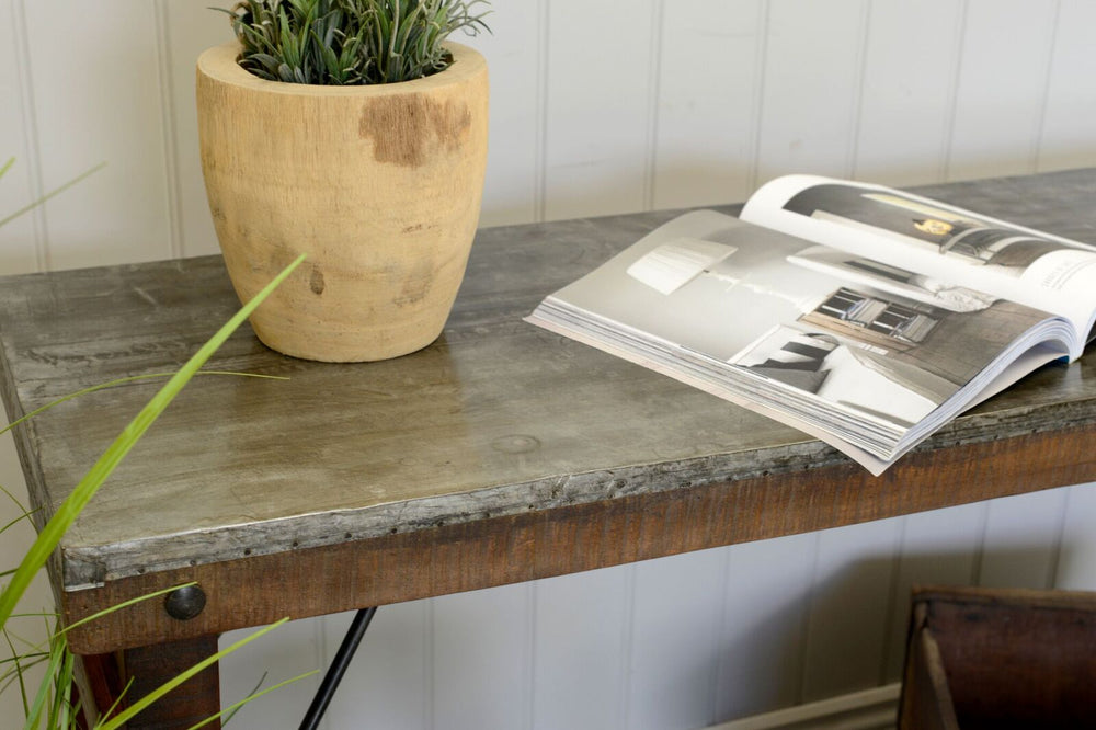Metal Console Table - 165cm