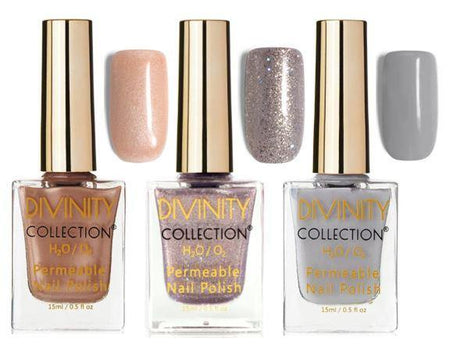 3 Pack Metallic Bundle Halal Nail Polish - Divinity Collection