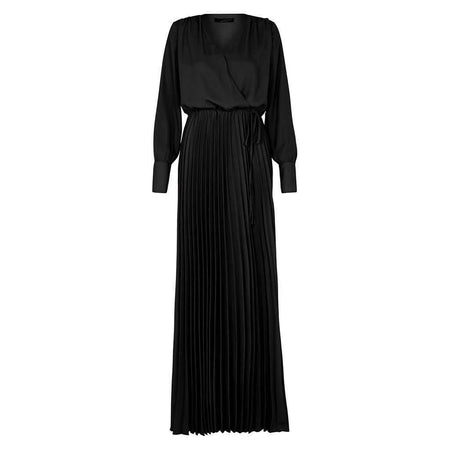 Adore Black Pleated Dress - Divinity Collection