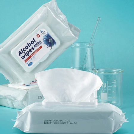 Alcohol Wipes 50 Sheets, 75% Alcohol for Antiseptic Disinfection - Divinity Collection