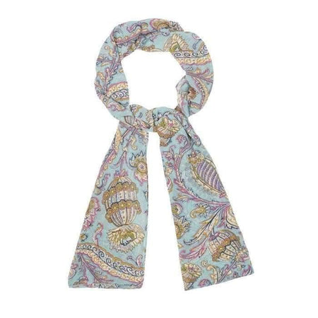 Aqua Paisley Hijab - Divinity Collection