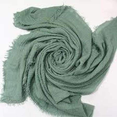 Army Green Crinkle Hijab - Divinity Collection