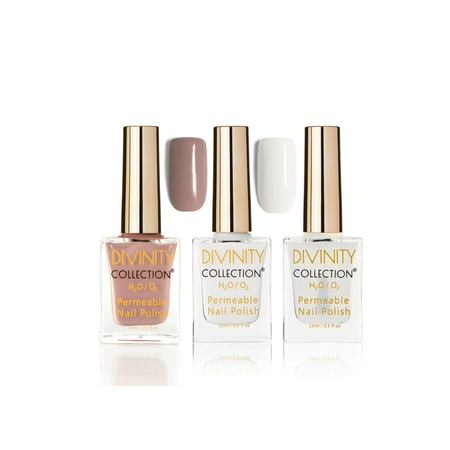 Au Naturel French Manicure Bundle Halal Nail Polish - Divinity Collection