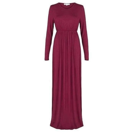 Baby Doll Maxi Jersey Dress - Fuchsia - Divinity Collection