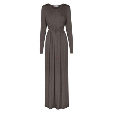 Baby Doll Maxi Modal Jersey Dress | Charcoal - Divinity Collection