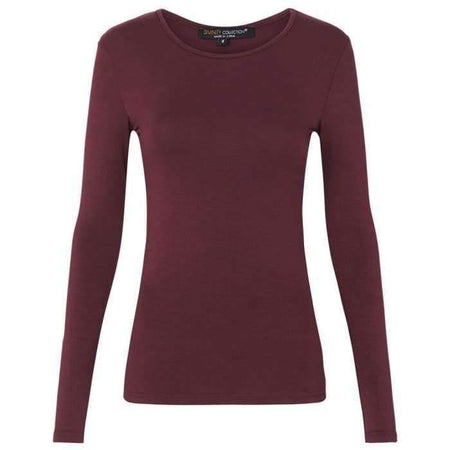 Berry Long Sleeve Cotton Top - Divinity Collection