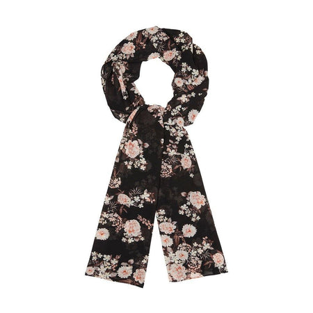 Black and Coral Floral Hijab - Divinity Collection