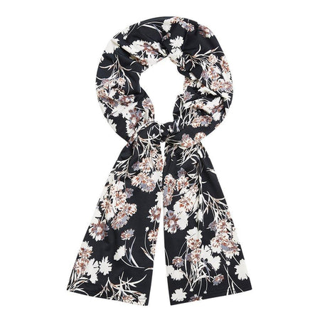 Black and Cream Floral Jersey Hijab - Divinity Collection