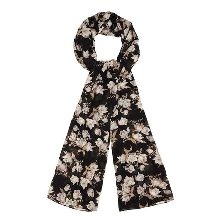 Black and Dusty Purple Floral Hijab - Divinity Collection