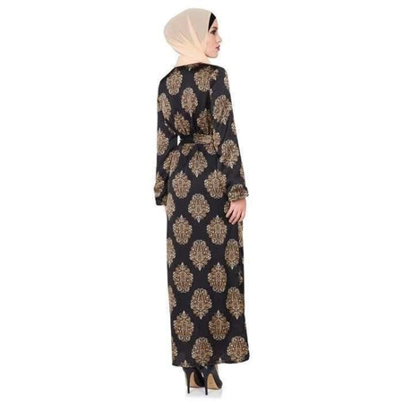 Black and Gold Paisley Dress - Divinity Collection