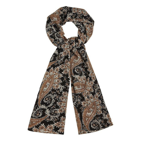 Black and Gold Paisley Hijab - Divinity Collection