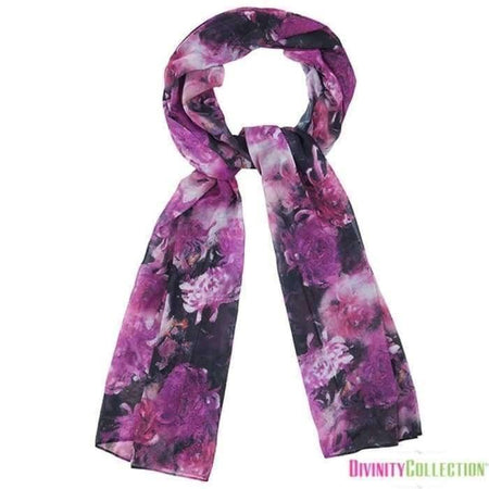Black and Purple Abstract Hijab - Divinity Collection