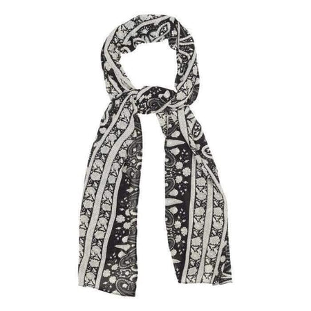 Black and White Paisley Hijab - Divinity Collection