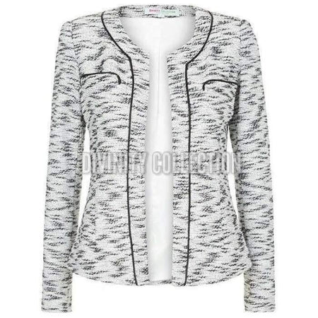 Black and White Textured Glitter Jacket - Divinity Collection