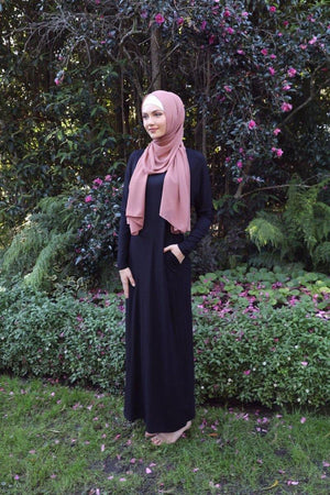 Black Batwing with Tie Waist Dress - Divinity Collection