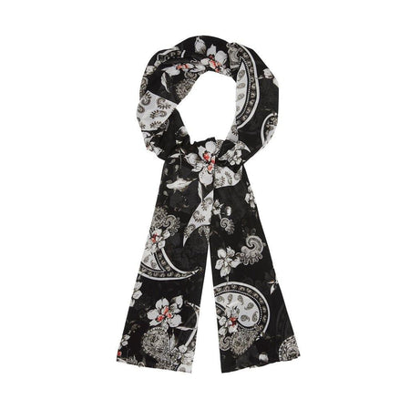 Black Floral Paisley Hijab - Divinity Collection