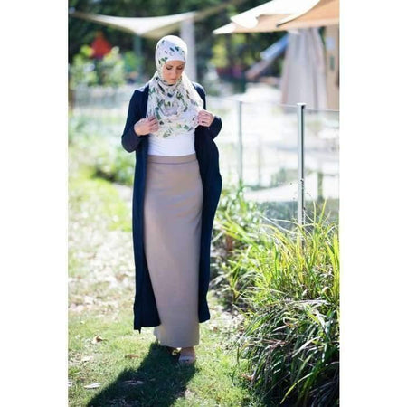Black Japanese Cotton Maxi Cardigan - Divinity Collection