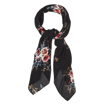 Black Large Abstract Floral Hijab - Divinity Collection