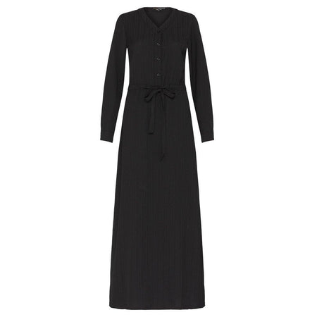 Black Linear Drawstring Maxi Dress - Divinity Collection