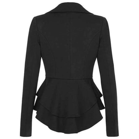 Black Peplum Jacket - Divinity Collection
