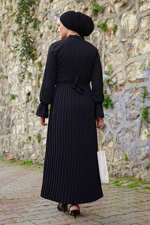 Black Pleated Maxi Dress - Divinity Collection