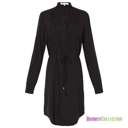 Black Pleated Shirt - Divinity Collection