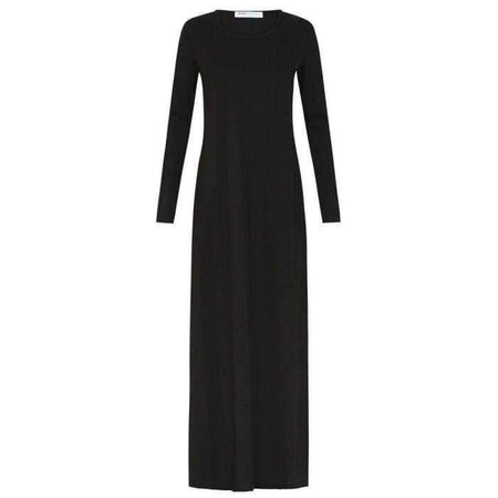 Black Ribbed Knit Dress - Divinity Collection