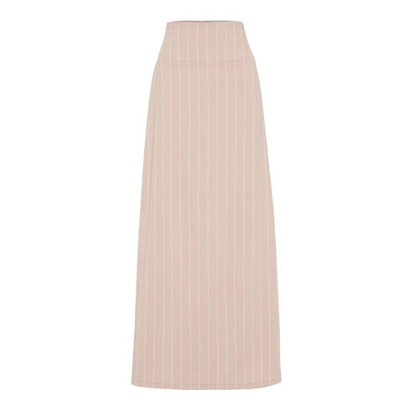 Blush Linen Pinstripe High Waisted Skirt - Divinity Collection