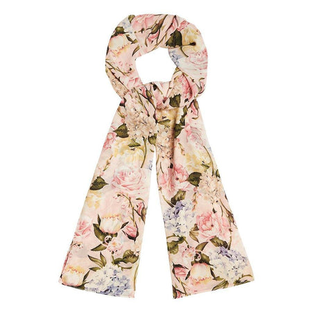 Blush Pink Floral Hijab - Divinity Collection
