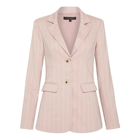 Blush Pinstripe Linen Blazer - Divinity Collection