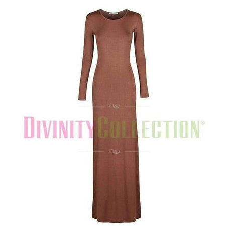 Body Dress Maxi Jersey Mocha - Divinity Collection