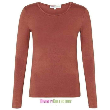 Brick Long Sleeve Cotton Body Top - Divinity Collection