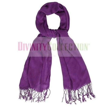 Bright Purple Shawl Fringe Hijab - Divinity Collection
