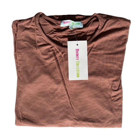 Brown Long Sleeve Cotton Top - Divinity Collection