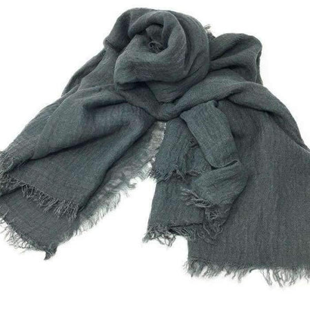 Charcoal Crinkle Hijab - Divinity Collection