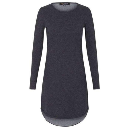 Charcoal Knit High Low Top - Divinity Collection
