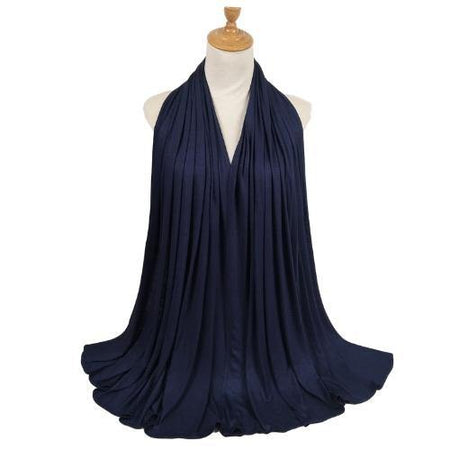 Cotton Soft Jersey Maxi Hijab Scarf - Navy - Divinity Collection