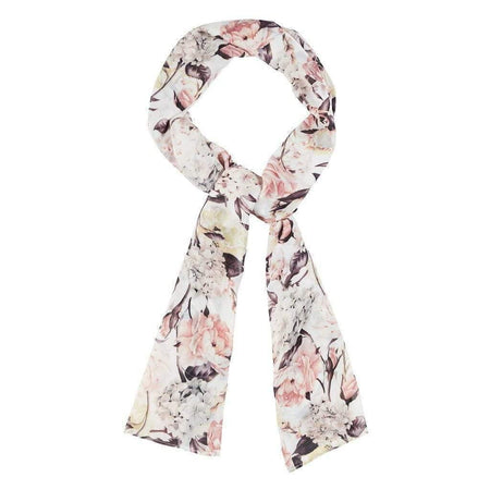 Cream and Pink Gardenia Hijab - Divinity Collection