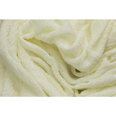 Cream Crinkle Hijab - Divinity Collection