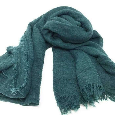 Dark Teal Crinkle Hijab - Divinity Collection