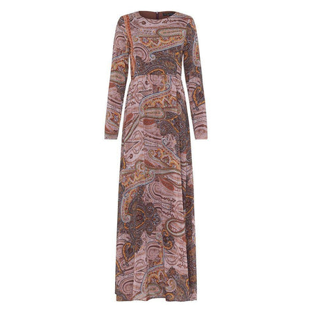 Dusty Pink Paisley Dress - Divinity Collection