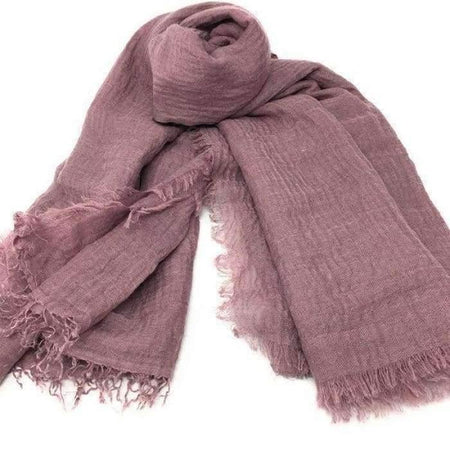 Dusty Purple Crinkle Hijab - Divinity Collection