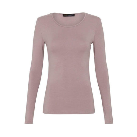 Dusty Purple Long Sleeve Cotton Body Top - Divinity Collection