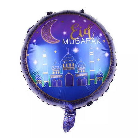 Eid Mubarak Foil Helium Balloon 45cm - Purple - Divinity Collection
