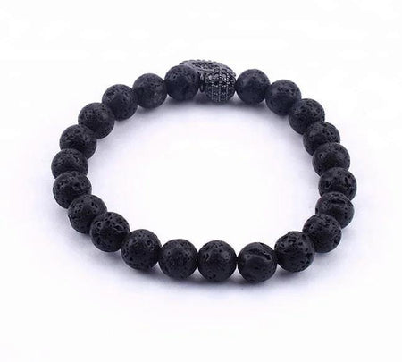 Evil Eye Lava Rock Aromatherapy Beaded Bracelet - Divinity Collection