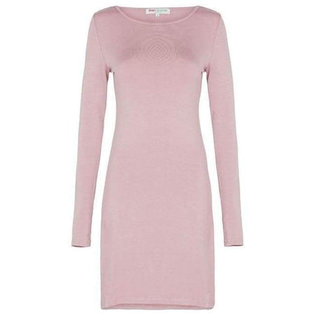 Extra Long Dusty Pink Long Sleeve Cotton Top - Divinity Collection