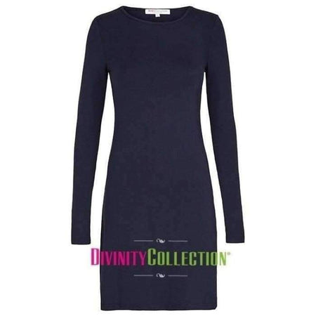 Extra Long Navy Long Sleeve CottonTop - Divinity Collection