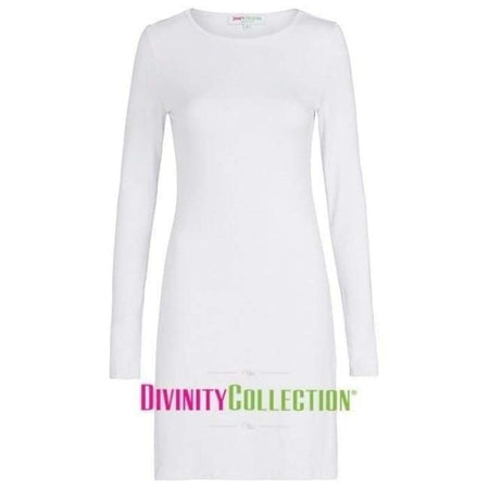 Extra Long White Long Sleeve Cotton Top - Divinity Collection