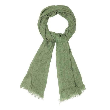 Forest Green Crinkle Hijab - Divinity Collection