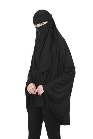 Full Length Niqab - Black - Divinity Collection